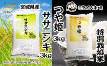 B-25 元気くん市場宮城の美味しいお米食べ比べセット(B)