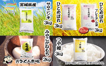 C-05 元気くん市場宮城の美味しいお米贅沢4種食べ比べセット(2)