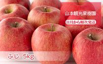 フルーツ王国余市産「ふじ」5kg【山本観光果樹園】