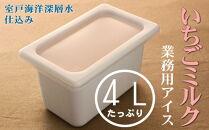 MT030 いちごミルク4L業務用アイス