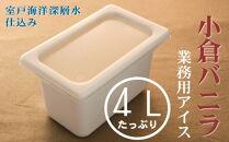 MT031 小倉バニラ4L業務用アイス