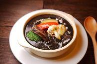 【美味しい森林保全】黒い牛タンシチュー&黒いハンバーグトマト煮(4食セット)【キコリの炭】
