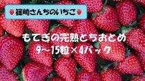篠崎さんちのいちご もてぎの完熟とちおとめ 9~15粒×4パック