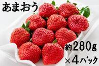 KG02-10九州福岡県ブランドいちご『あまおう』280g×4パック