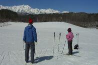 雪原を歩こう。クロスカントリースキー 半日コース ペアチケット