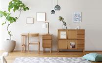 高野木工プレーンデスク150×55突板セットBホワイトオーク
