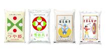 産地限定!山形県のお米丸ごと食べ比べ4種セット CX014