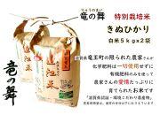 【2020年産】竜の舞 きぬひかり(白米)5kg袋2個入