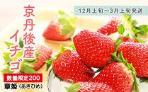 【数量限定200】京丹後産イチゴ(12月上旬~3月上旬発送)