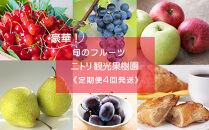 【ニトリ観光果樹園が贈るフルーツ王国定期便!】豪華!!旬のフルーツ4回発送コース