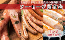 <頒布会>北島農場豚肉使用!ソーセージ頒布会【3カ月連続】