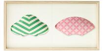 〈ご自宅用〉【百年物語プロジェクト】ふくら2種飾り(松×扇)