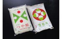 令和2年産米庄内米つや姫5kg、雪若丸5kg<JA庄内みどり>