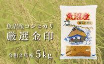 魚沼産コシヒカリ「金印」高食味米5kg(令和2年産)