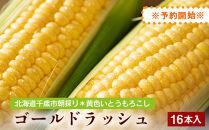北海道千歳市朝採り黄色いとうもろこし!ゴールドラッシュ(16本入)※予約開始※