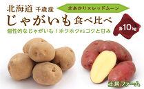 北海道千歳産じゃがいも食べ比べ~北あかり×レッドムーン~各10kg《土居ファーム》