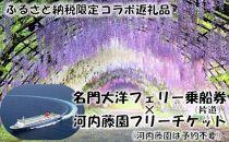 L07-25【ふるさと納税限定】名門大洋フェリー×河内藤園「片道乗船&入園セット」