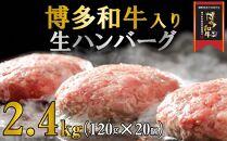 KG03-15博多和牛入りハンバーグ2.4kg!(120g×20個)