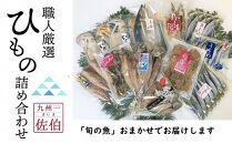 干物職人が厳選した「旬の魚」おまかせ干物詰め合わせ10品以上が届く【ワンフローズン製法でうま味そのまま】