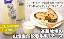 斉藤牧場の山地自然放牧牛乳・チーズセット