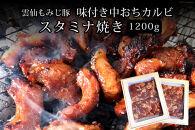 【ポイント交換専用】雲仙もみじ豚 味付き中おちカルビ スタミナ焼き1200g