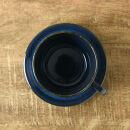 美濃焼やまに北欧ブルー深ブルーカップ&ソーサー2客セット