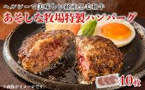 ※数量限定※1.5㎏!!あそしな牧場特製ハンバーグ(150g×10枚)【黒毛和牛・経産牛】