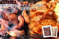 【ポイント交換専用】雲仙もみじ豚味付き中おちカルビスタミナ焼き(600g)・豚サーロイン西京漬け(500g)セット
