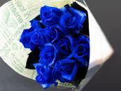 バラの花束 アバランチェロイヤルブルー