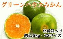 【夏の上質品】グリーンハウスみかん約2.5kg化粧箱入り(2Sサイズ)