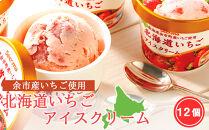 余市産いちご使用☆北海道いちごアイスクリーム12個セット