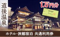 【道後温泉】ホテル・旅館宿泊 共通利用券10,000円