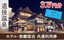 【道後温泉】ホテル・旅館宿泊 共通利用券30,000円