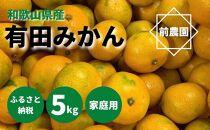 和歌山県産 有田みかん 5kg 家庭用