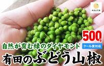 有田の山椒ぶどう山椒500g実山椒生山椒クール便対応和歌山県産