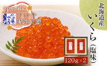 【コロナ特別支援!】<佐藤水産>北海道産いくら(塩味)240g