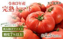 糖度7%以上 完熟トマト(桃太郎CFファイト・令和3年産)約2.5kg以上