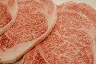 和歌山県が育んだ純国産黒毛和牛!熊野牛ロースステーキ(300g×2)