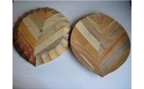 AF01 木製食器 木の葉皿