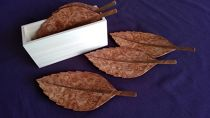 木の葉の銘々皿 桧箱入り5枚セット カエデ(楓)