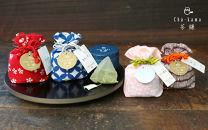 本格日本茶「茶鎌」4種と鎌倉柄のお弁当包み「bento?」のセット