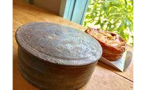 【限定数2】丹波栗のチーズケーキと丹波立杭焼の忠作窯でオリジナルで登り窯で焼いた菓子器をセット