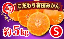 有田みかん 5kg(Sサイズ指定) 旬の味覚市場【こだわり】