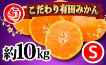 有田みかん たっぷり10kg(Sサイズ指定) 旬の味覚市場【こだわり】