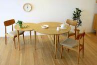 バルーンダイニングテーブル[単品]ホワイトオーク