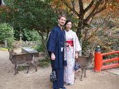 【宮島】和服デートが楽しめる お着物レンタル男女ペアチケット