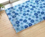 エンジェルステップバスマット花柄ブルー