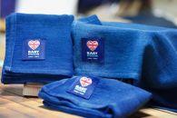 BABYMUSLIN-BLU-中1枚入国産藍染め単色オールハンドメイド 贈り物プレゼント内祝い出産祝いに