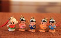 【コットベリー&二宮金次郎】人形ストラップセット