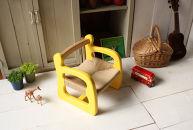☆赤ちゃん椅子 ami 1歳~ 国産ひのき イエロー